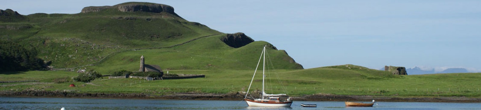 Canna Harbour and Compass Hill